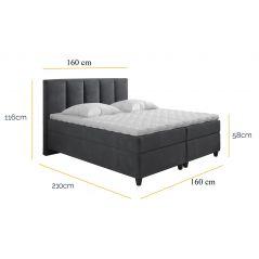 Łóżko Kontynentalne Arizona 160x200