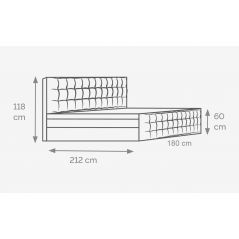 Łóżko Imperia 180x200 Hard Top