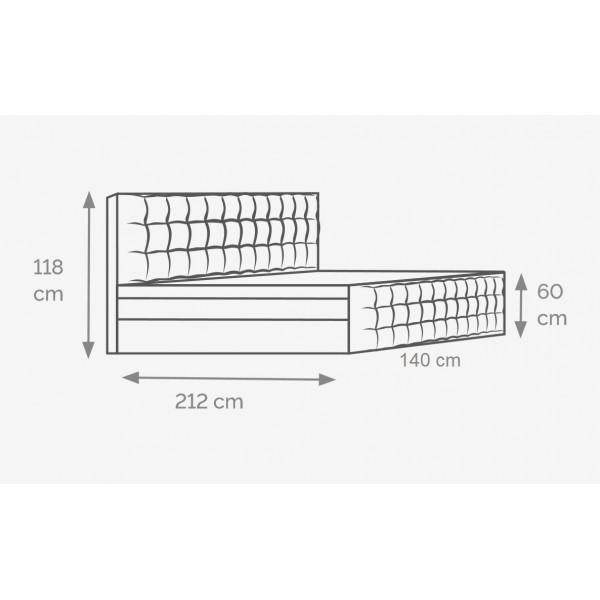 Łóżko Imperia 140x200 Gelax-Top