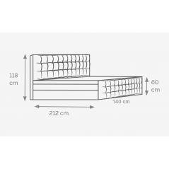 Łóżko Imperia 140x200 Elastic-Top