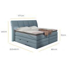 Łóżko Korfu 160x200 Soft-Top z pojemnikiem