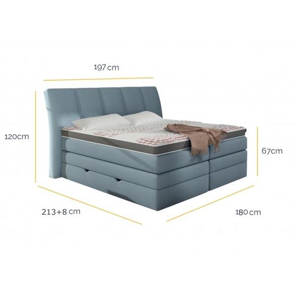 Łóżko Korfu 180x200 Hard-Top z pojemnikiem