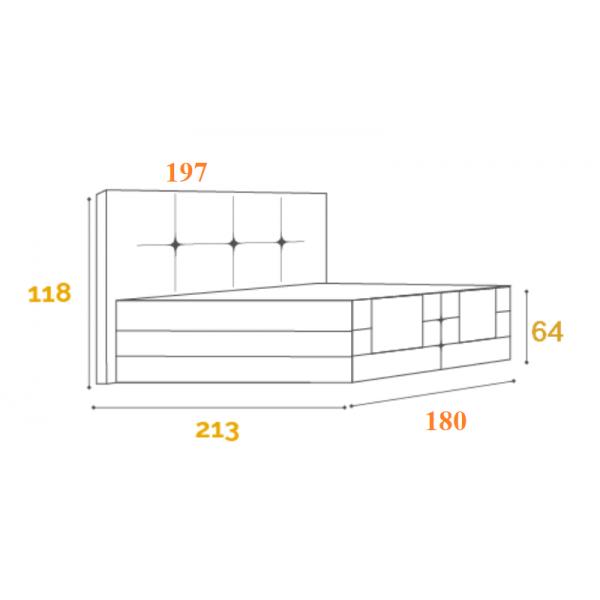 Komoda drewniana z dębowym blatem K-1P