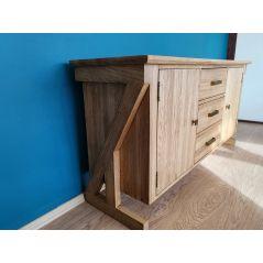 Drewniana szafka nocna z szufladką i drzwiczkami PRAWA z kolekcji Hacienda