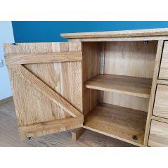 Drewniana dębowa komoda ZET