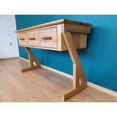 Drewniana konsola/ komoda przyścienna ZET
