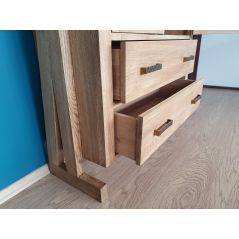 Drewniana dębowa witryna/ regał ZET