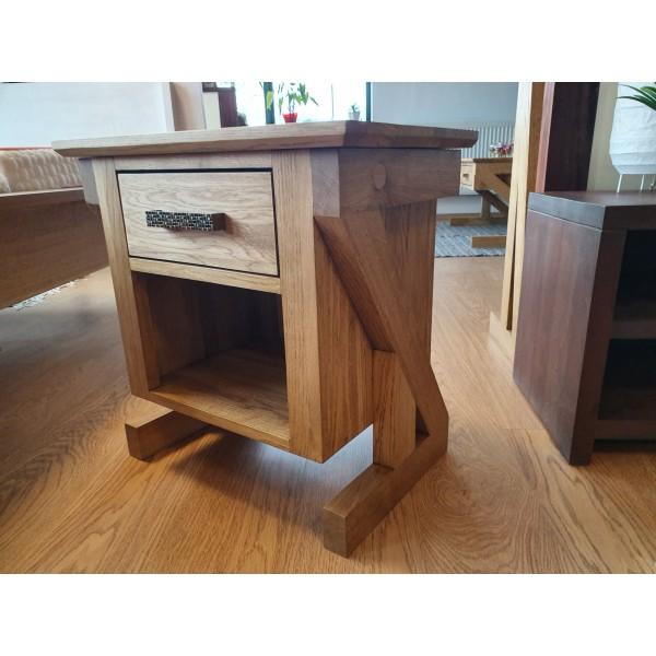 Drewniana dębowa szafka nocna ZET