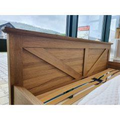 drewniane dębowe łóżko ZET 140x200