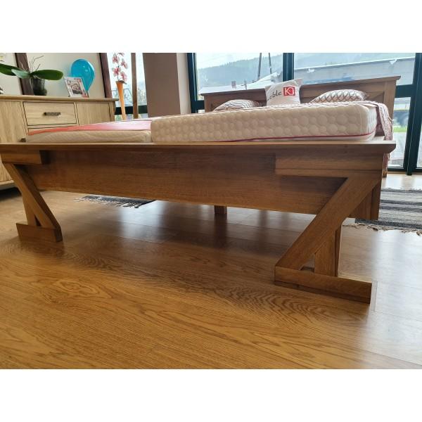 Drewniane dębowe łóżko ZET 160x200