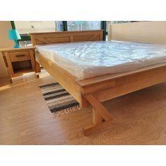 Drewniane dębowe łóżko ZET 180x200