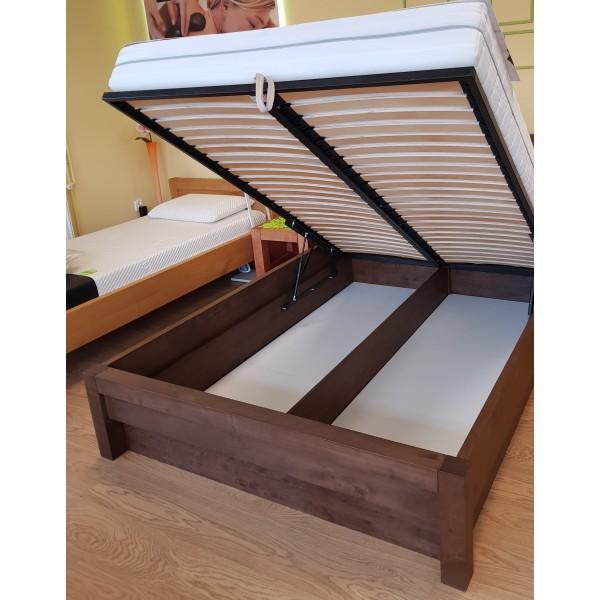 Łóżko drewniane Valentino 120x200 z pojemnikiem na pościel