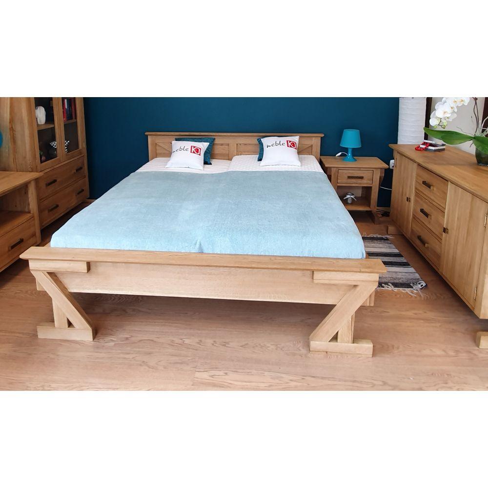 Drewniane dębowe łóżko ZET...