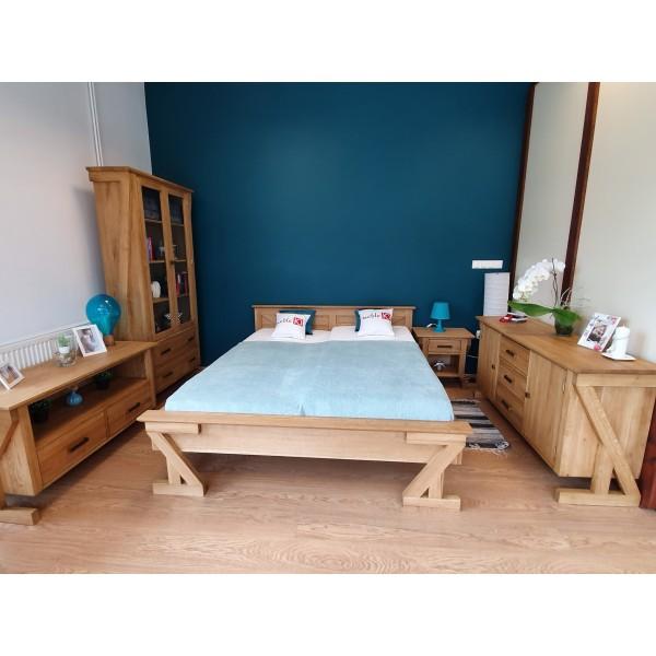 Drewniane dębowe łóżko ZET 200x200