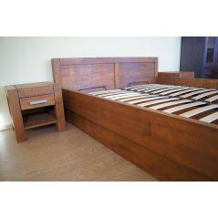 Łóżko drewniane Valentino 160x200 z pojemnikiem na pościel