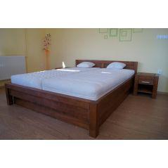 Łóżko drewniane Valentino 200x200 z pojemnikiem na pościel