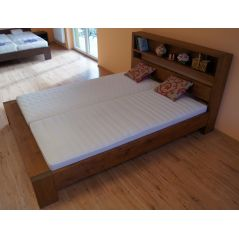 Łóżko drewniane Italio 160x200 z półką w zagłówku