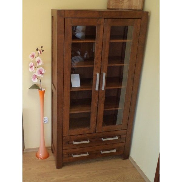 Witryna drewniana Alba z szufladami