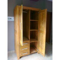 Szafa drewniana BELLA dwudrzwiowa z szufladami