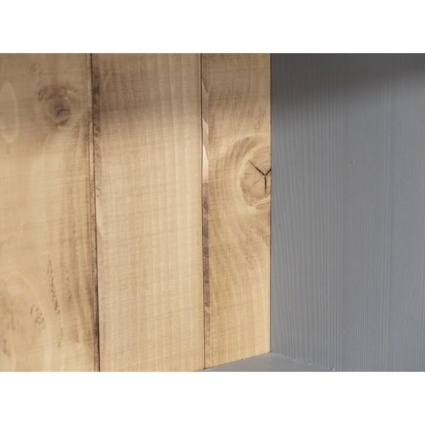Witryna Drewniana W-4P z dębowym blatem