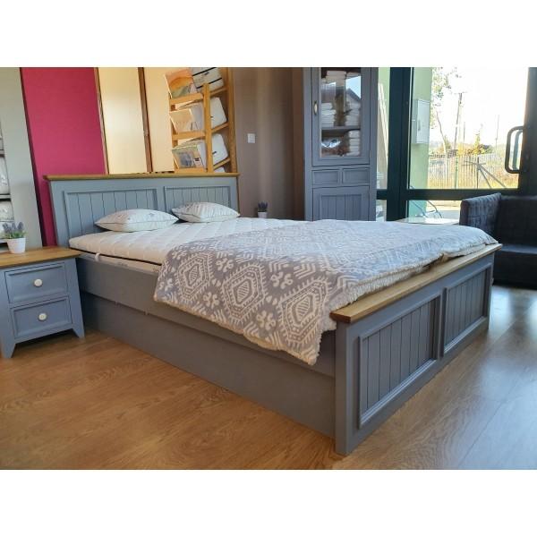 Łóżko drewniane L-3P 120x200 z pojemnikiem na pościel