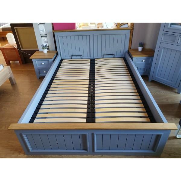 Łóżko drewniane L-3P 180x200 z pojemnikiem na pościel