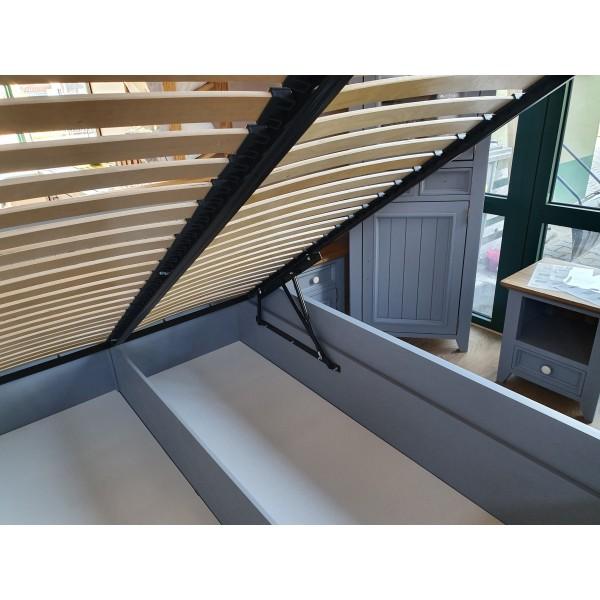 łóżko drewniane L-3P 200x200 z pojemnikiem na pościel