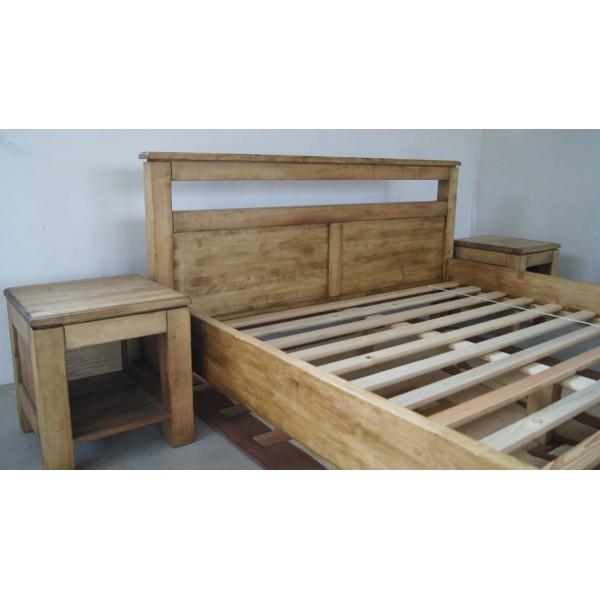 Łóżko drewniane postarzana Logano 160x200