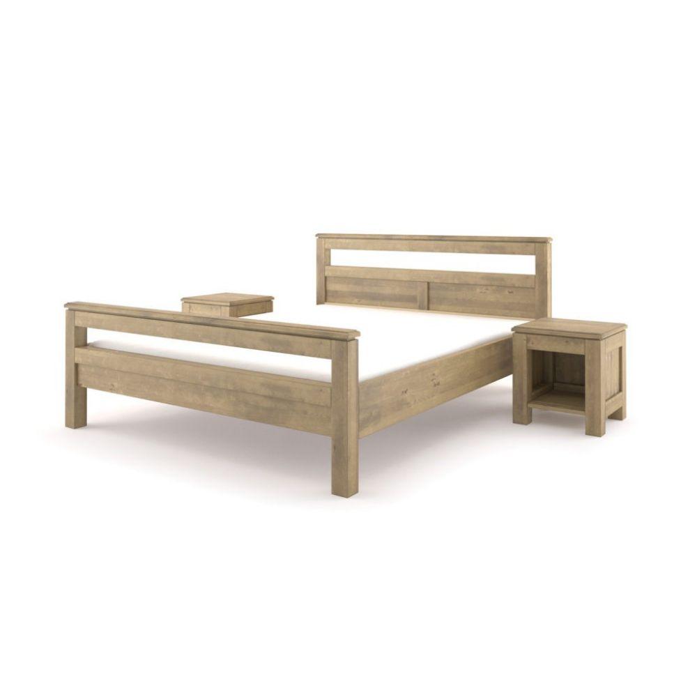 Łóżko drewniane postarzana...
