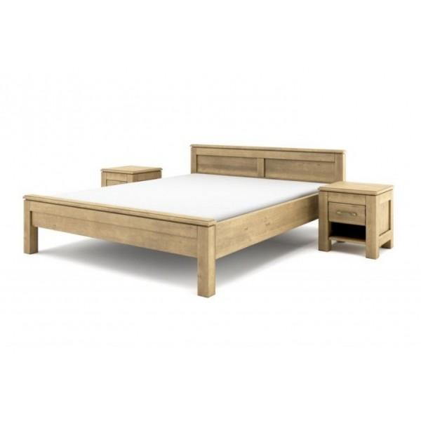 Łóżko drewniane postarzana Vintage 140x200