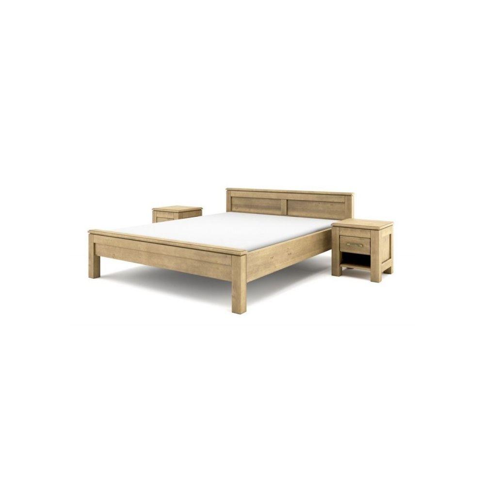 Łóżko drewniane postarzane...