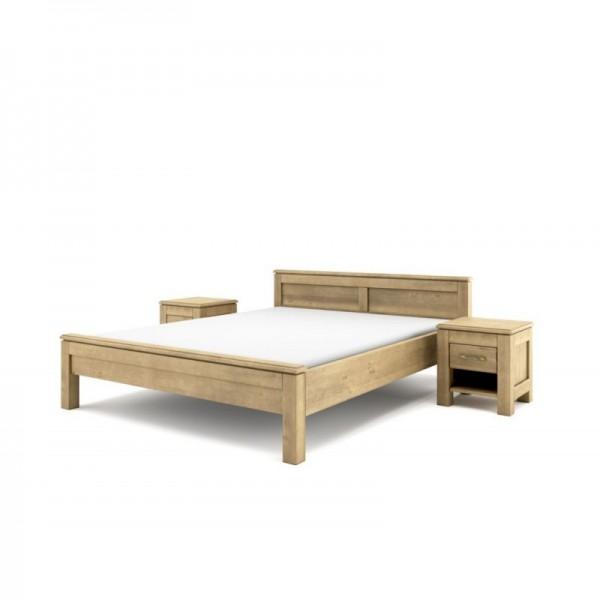 Łóżko drewniane postarzane Vintage 200x220