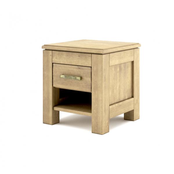 Szafka nocna drewniana postarzana z szufladką