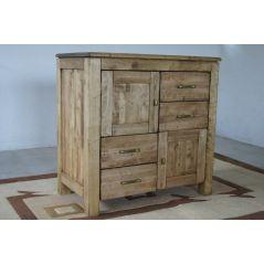 Komoda drewniana postarzana Madera