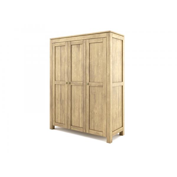 Szafa trzydrzwiowa drewniana postarzana Wenus