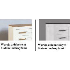 Witryna drewniana z szufladami Alba White