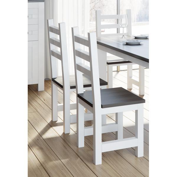 Krzesło drewniane White