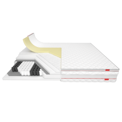 XL Twin - bardzo wysoki materac kieszonkowy z pianką termoelastyczną