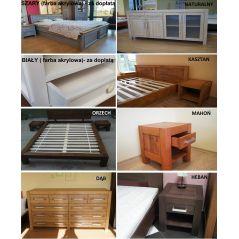Łóżko drewniane Valentino 140x200 z pojemnikiem na pościel