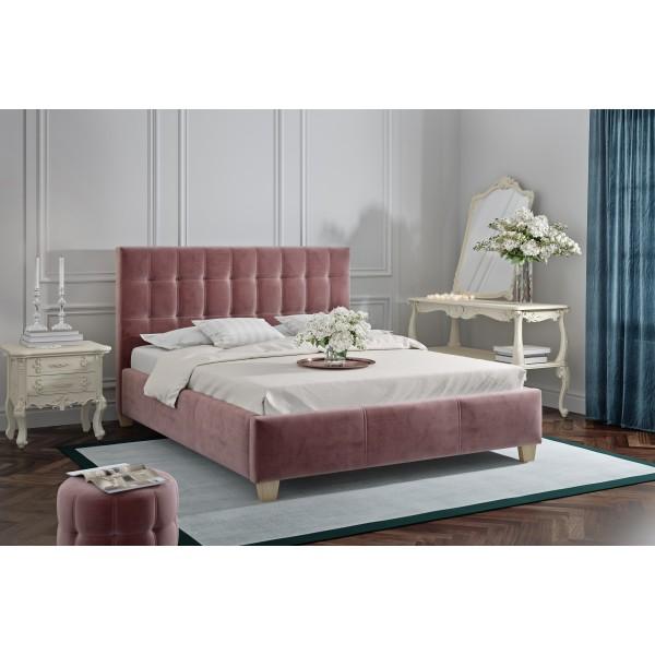 łóżko Dolores 140x200 ze stelażem i materacem Passion