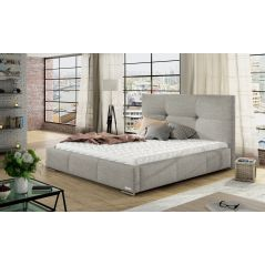 Łóżko Lily 200x200 ze stelażem i materacem Passion