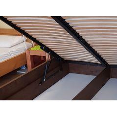 Łóżko drewniane Valentino PLUS 120x200 z pojemnikiem na pościel