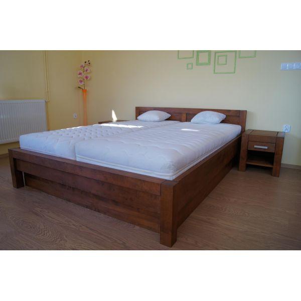 Łóżko drewniane Valentino PLUS 160x200 z pojemnikiem na pościel