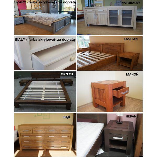 Łóżko drewniane Valentino PLUS 200x200 z pojemnikiem na pościel