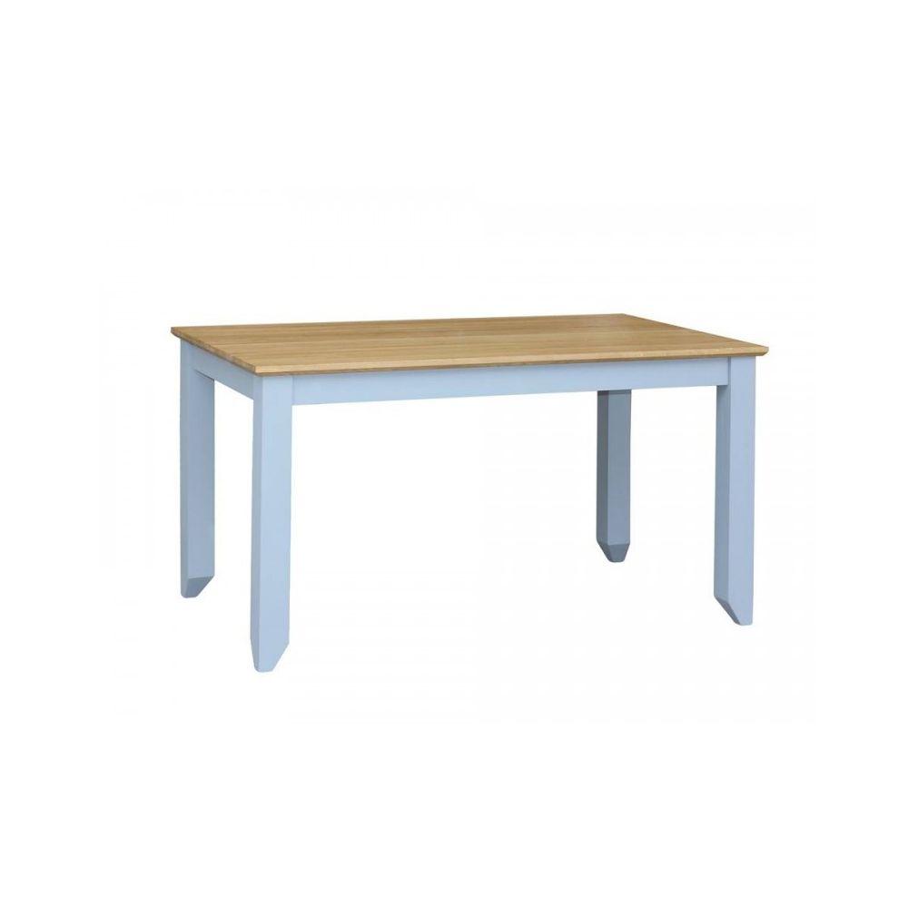 Stół drewniany S-1P 140/80 z dębowym blatem